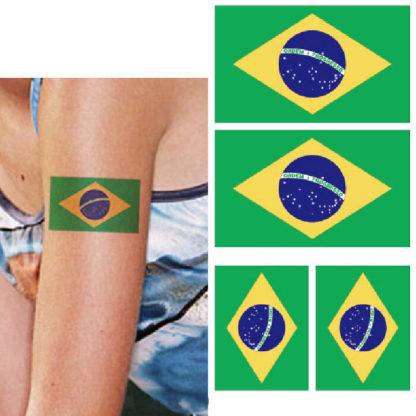 Faux tatouage drapeau Bresil