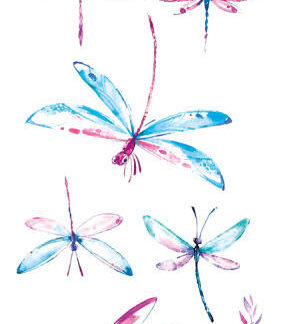 Tatouage ephemere libellule dessinée