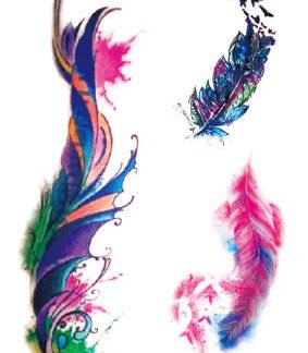 Tattoo plume art
