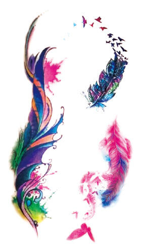 Tattoo plume art