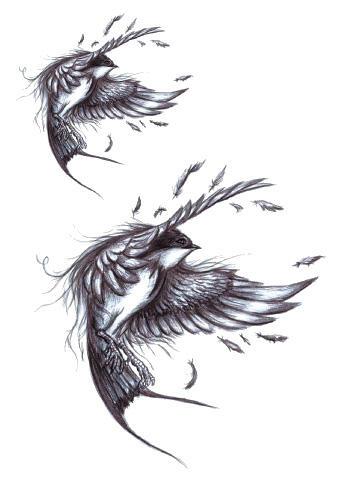 Tattoo vol oiseau