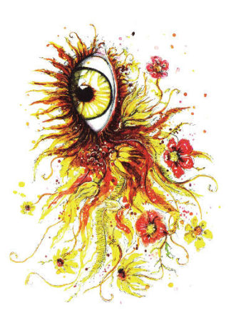 Tattoo oeil artistique