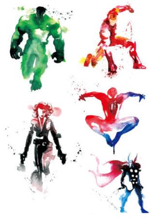 Faux tatouage Avengers