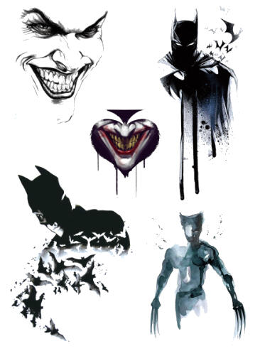 Tatouage ephemere hero dark