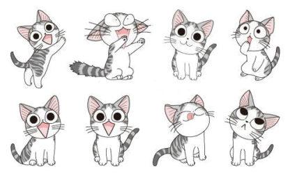 Tatouage temporaire chat rigolo