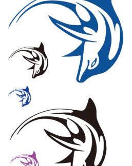 Tatouage ephemere dauphin