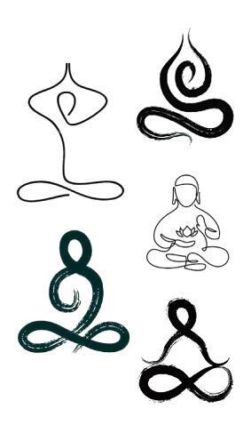 Faux tatouage Bouddha en goutte