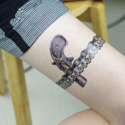Tattoo pistolet jarretiere