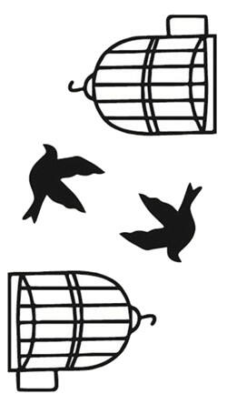 Tatouage ephemere oiseaux liberty