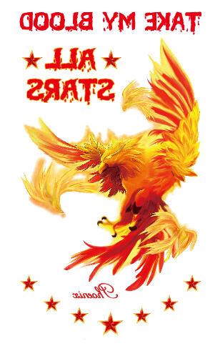 Tatouage temporaire phoenix en feu