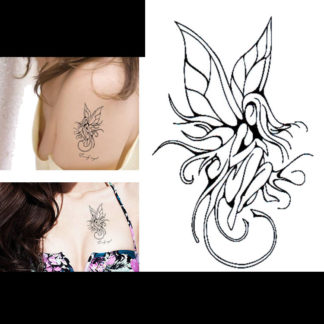 Faux tatouage fee elegante