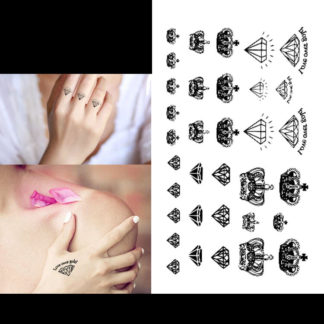 Tattoo couronne et diamant