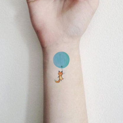 Tattoo ballon chat Enfant