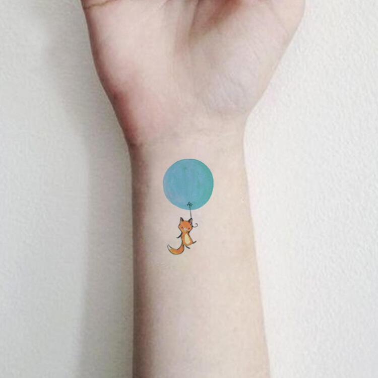 Tattoo Ballon Chat Enfant Kolawi