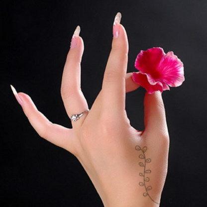Tatouage temporaire attrape-reve fleur fleche