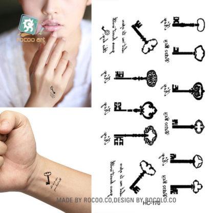 Tatouage temporaire clefs