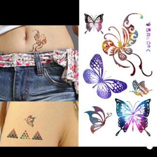 Faux tatouage papillons