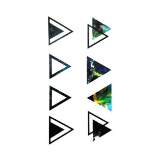 Faux tatouage triangles multicolor