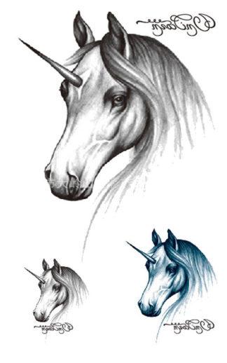 Faux tatouage licorne