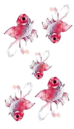 Tatouage temporaire poissons rouges
