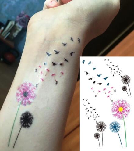 Faux Tatouage Fleur Cheveux D Ange Envol Oiseaux Kolawi