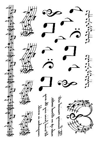 Tatouage temporaire notes de musique