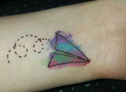 Tattoo triangles,cerf violet