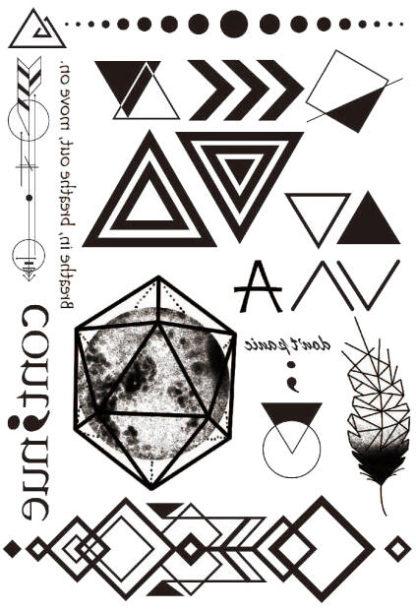 Tatouage temporaire geometrie abstrait