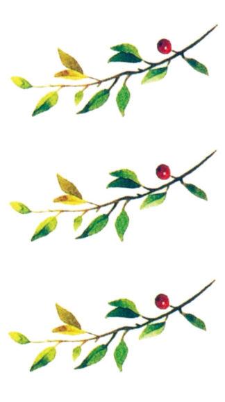 Faux tatouage branches legeres