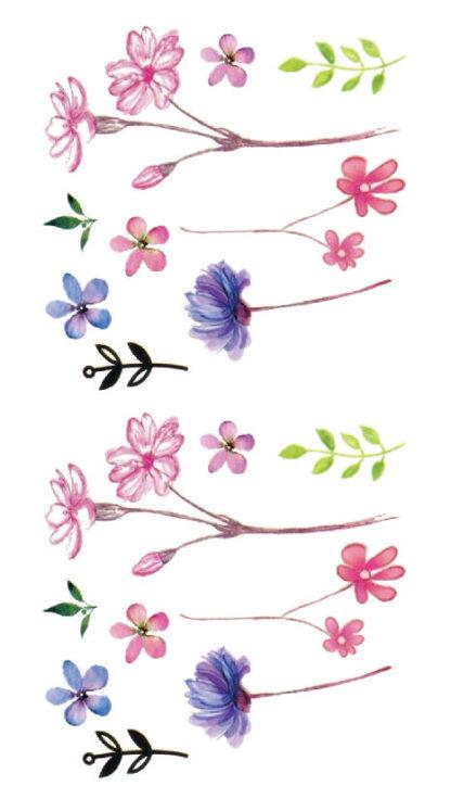 Tatouage temporaire fines fleurs des champs