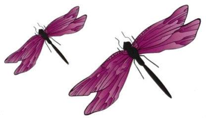 Tatouage ephemere libelulles rose