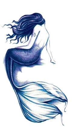Tatouage temporaire sirene violette