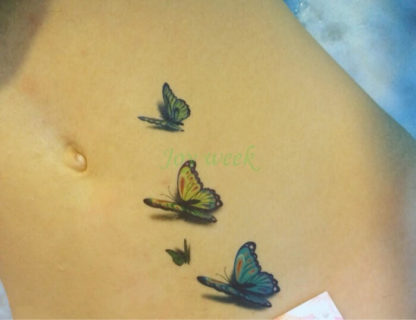 Tatouage ephemere papillons 3D