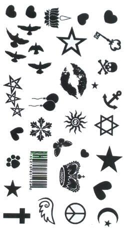 Tatouage ephemere Multi Symbole