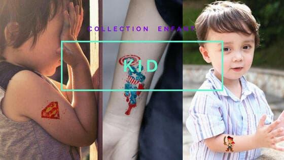 tatouage éphémère enfant kid
